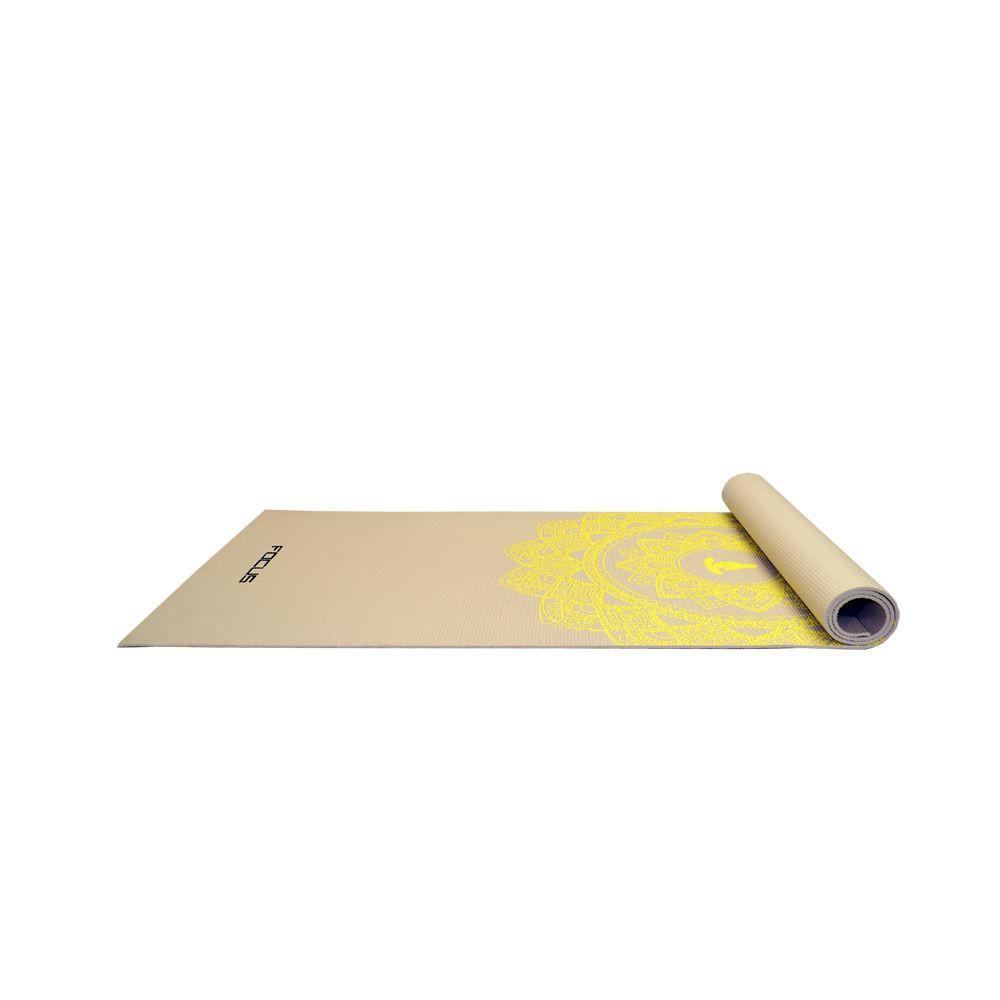 Dagaanbieding - Yoga Mat - Focus Fitness - Grijs met Print dagelijkse koopjes